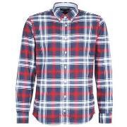 Skjortor med långa ärmar Tommy Hilfiger  CHECKED HERRINGBONE SHIRT