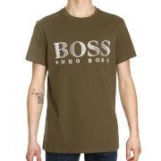 BOSS T-shirt RN Mörkgrön bomull X-Large Herr
