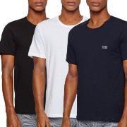 BOSS Cotton Classic Crew Neck T-shirt 3P Vit/Marin bomull X-Large Herr