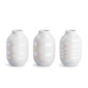 Omaggio miniatyrvas 3-pack pärlemor-vit