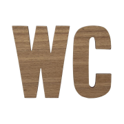 Bloomingville träbokstäver WC 2-pack trä