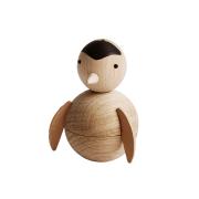 Penguin träfigur bok-ek-läder