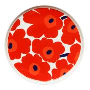 Unikko tallrik röd Ø 25 cm