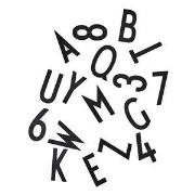 Design Letters Bokstavs Box 150 delar/50 mm Svart One Size