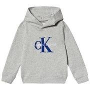 Calvin Klein Jeans Logo Hoodie Grå 4 years
