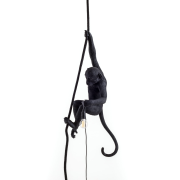 Monkey Lamp Outdoor With Rope, Svart