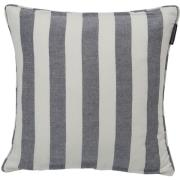 Striped Kuddfodral 50x50 cm, Blå/Vit