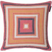 Multi Stripe Kuddfodral 50x50 cm, Röd/Vit