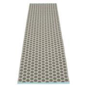 Noa Matta 70x350 cm, Charcoal/Warm Grey/Turquoise edge